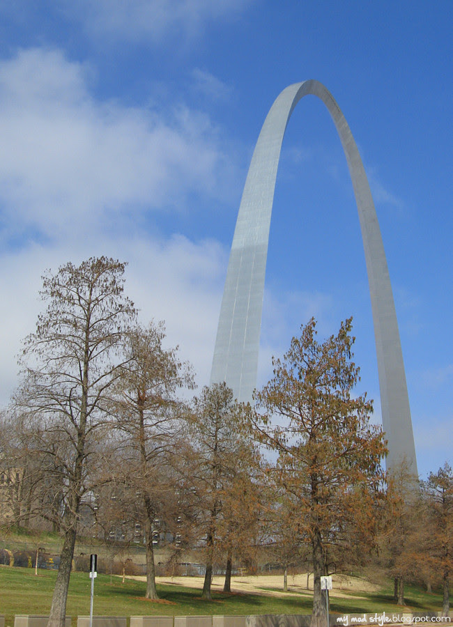 St Louis Arch and Trees