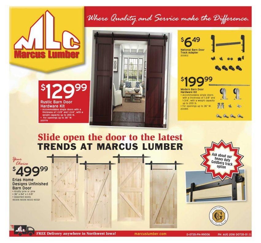 Marcus Lumber Sliding Barn Doors Are A Hit