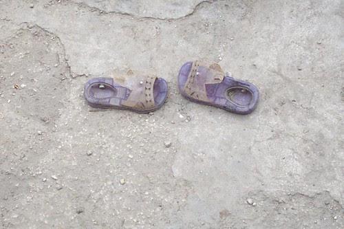 Child's shoes, Haiti