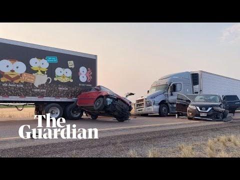 Utah sandstorm causes 20-car pile up killing several motorists