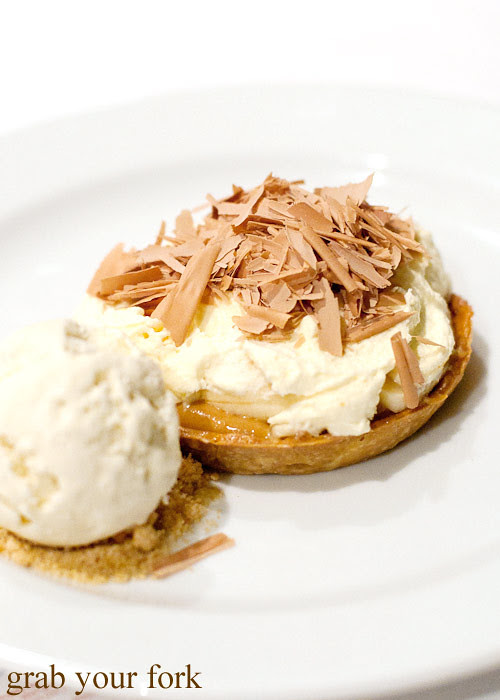 banoffee pie dessert at steersons lime street king st wharf
