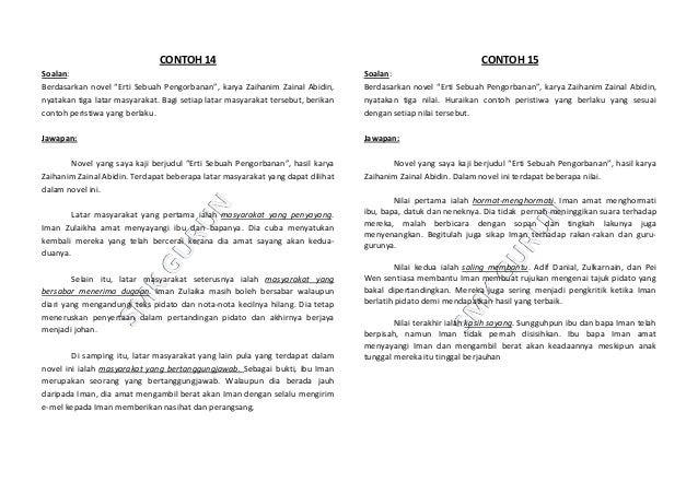 Contoh Jawapan Untuk Soalan Novel Spm Tersoal O