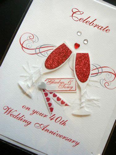 personalised handmade  ruby anniversary card ebay