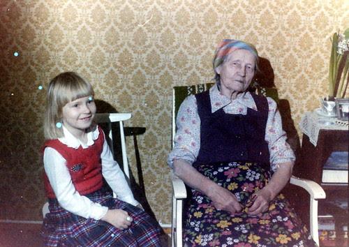 With greatgrandma, 80s