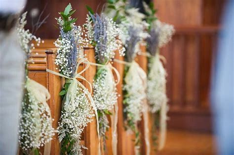 Lavender and Gyp Pew Ends   wedding in 2019   Lavender