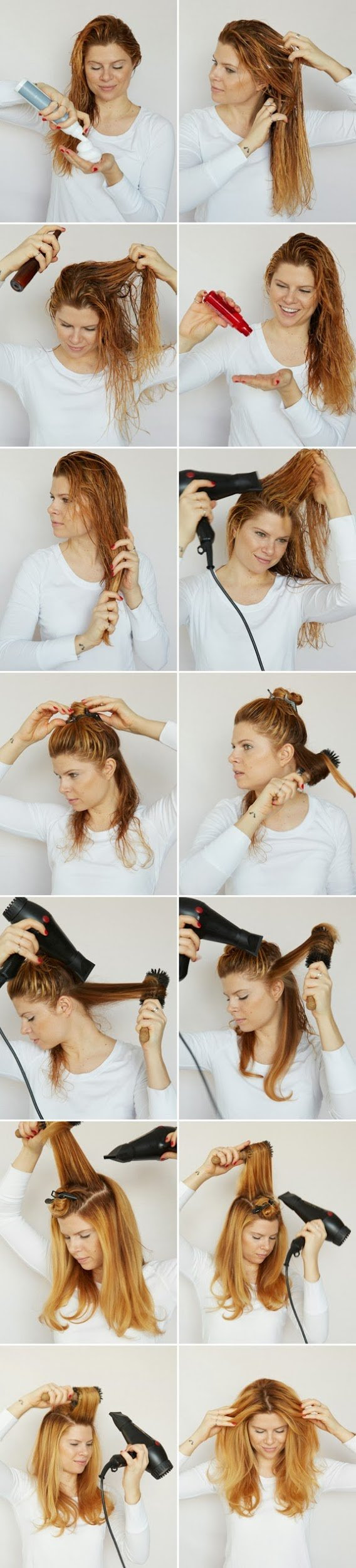 How To Blow Dry Your Hair Like A Hair Stylist A Cup Of Jo