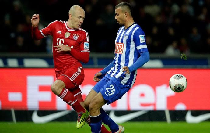 Robben Bayern de Munique x Hertha Berlim (Foto: AP)