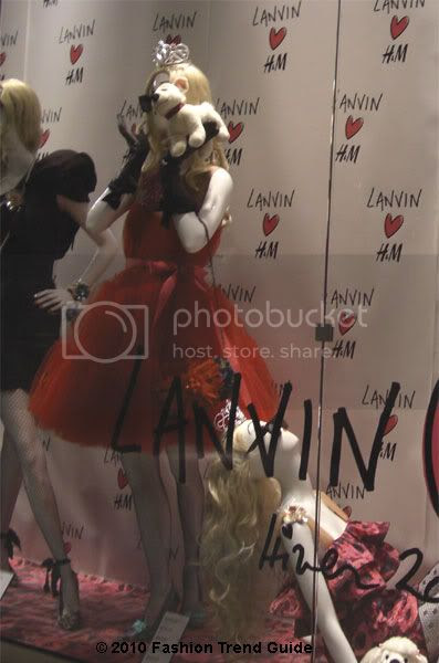Lanvin H&M red tulle dress