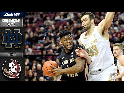 Notre Dame vs. Florida State Condensed Game | 2019-20 ACC Men's Basketball