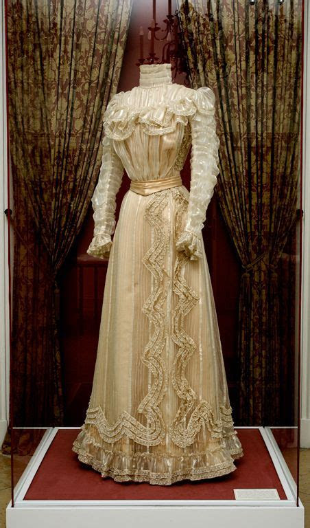 Gown owned by Empress Elisabeth of Austria, notably worn