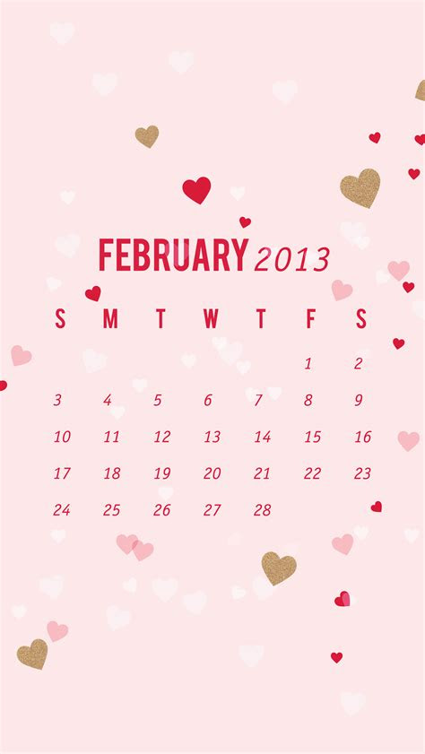 february  calendar wallpaper sarah hearts