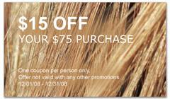 CPS-1056 - salon coupon card