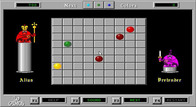 Color Lines Download (1992 Puzzle Game)