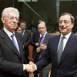 Mario Monti e Mario Draghi