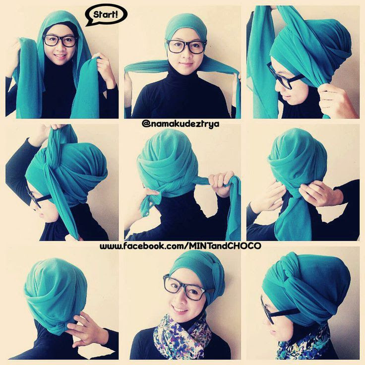 Tutorial Hijab Turban  Stylish hijab  Pinterest