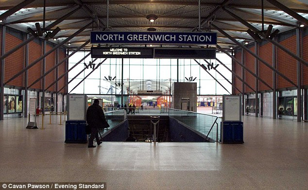 Evacuated: Officers from the Metropolitan Police's counter terrorism command launched a probe after the package was found by train staff on an eastbound service (file image)