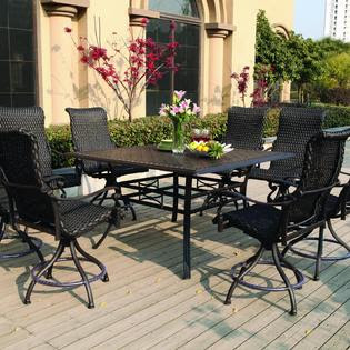Hampton Bay Salem Pack High Dining Patio from Sears.
