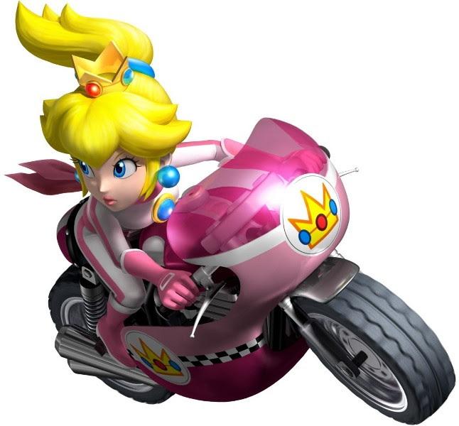 mario and princess peach pictures. Princess Peach - Mario Kart