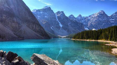 Wallpaper Lake, 4k, HD wallpaper, Mountains. Forest, Pine