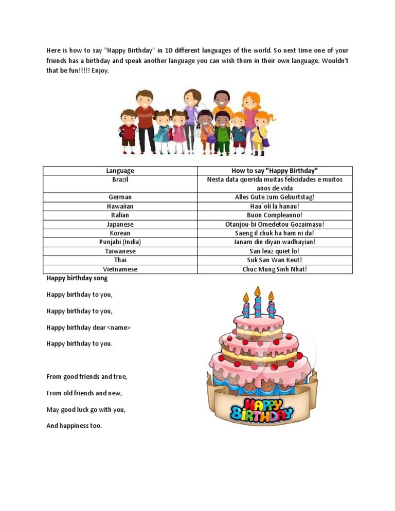 Download How To Say Happy Birthday Docsharetips