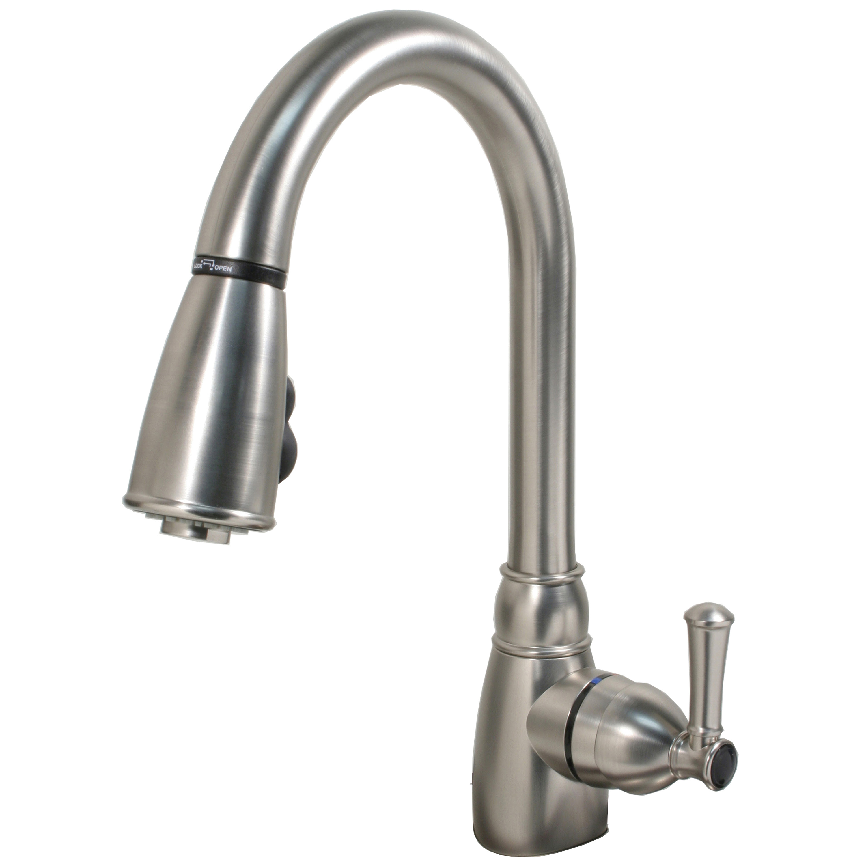 """Single-Handle Non-Metallic"" Kitchen Faucet with Pull-Down ..."