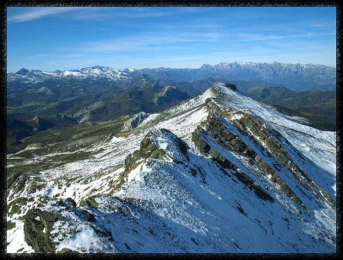 Desde el pico Tres Mares