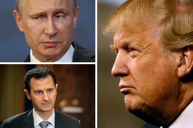 Risultati immagini per putin trump syria