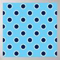 Navy Polka Dots on Light Blue