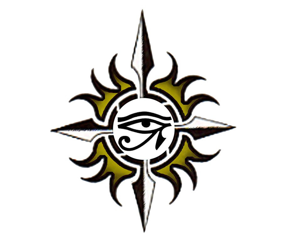 Egyptian Eye Tribal Tattoo Design Tattootemptation Clip Art