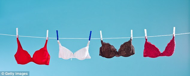 Bras should be washed every two wears, but avoid putting them in the machine as activity in the drum will ruin elasticity and shorten its useable life