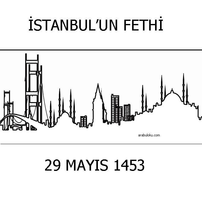 29 Mayıs Istanbulun Fethi Boyama Sayfaları Arabulokucom