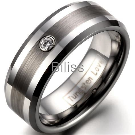 8mm Comfort Fit Tungsten Carbide Ring For Men Wedding
