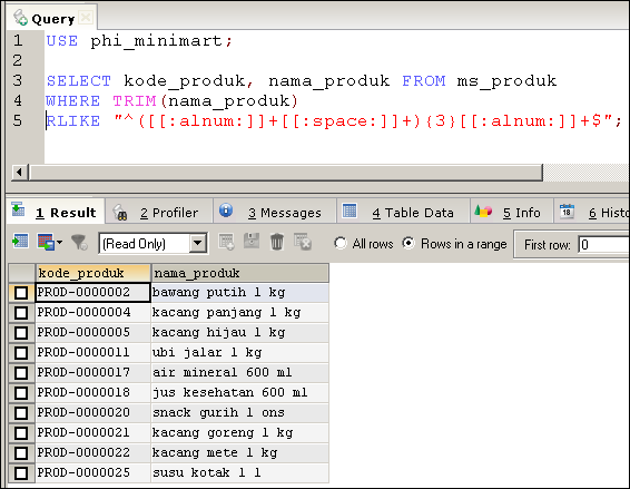 Menggunakan Regular Expression Regex Pada Mysql Mysql Tutorial Bahasa Indonesia By Phi Integration