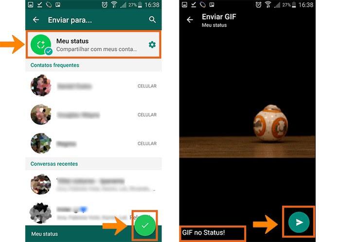 Como Postar Um Gif No Status Do Whatsapp Pelo Android Dicas E
