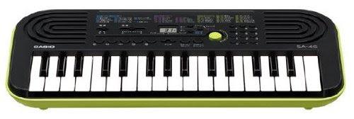 カシオ 電子ミニキーボード 32ミニ鍵盤 SA-46 ブラック&グリーン