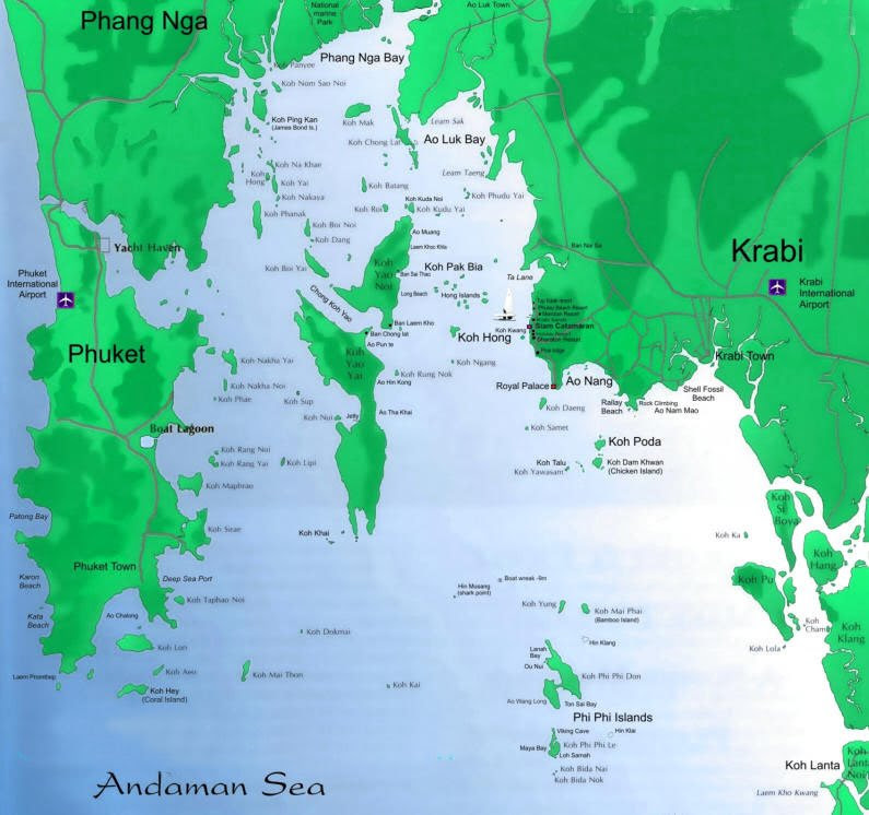 Where to stay in Krabi? - Krabi Map