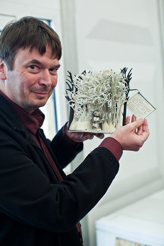 @EdinCityofLit paper sculpture, modelled by @beathhigh