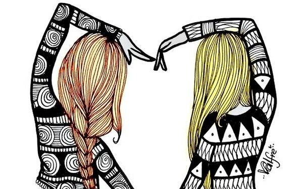 Girl Two Drawing Best Friends Images