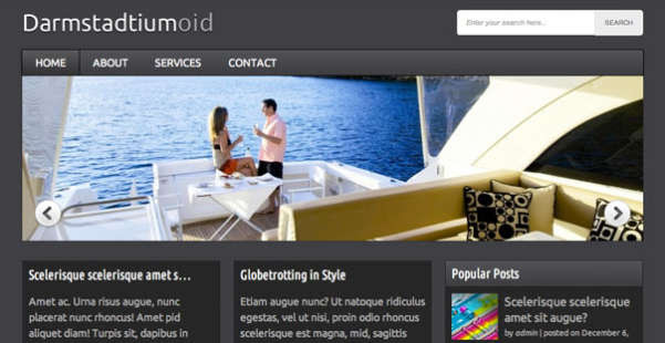 Darmstadtiumoid  Blog WordPress Theme