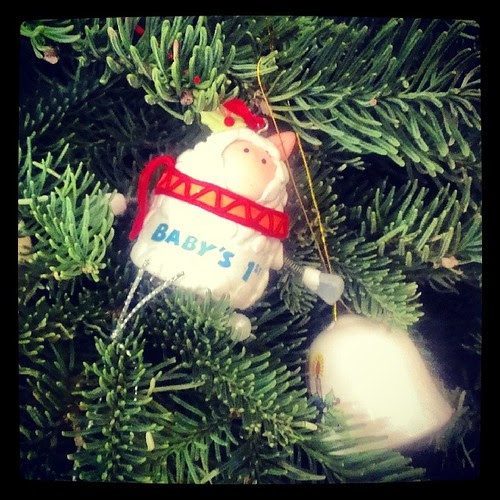 Pic-a-day 8 (late). Ornaments: we got this one for Gabe his first Christmas with us:)