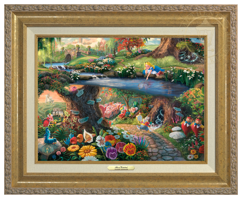Disneys Alice In Wonderland Canvas Classic Gold Frame Thomas