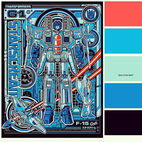 Variant Color Guide for Starscream available this week at Wizard World Philly by 1SHTAR