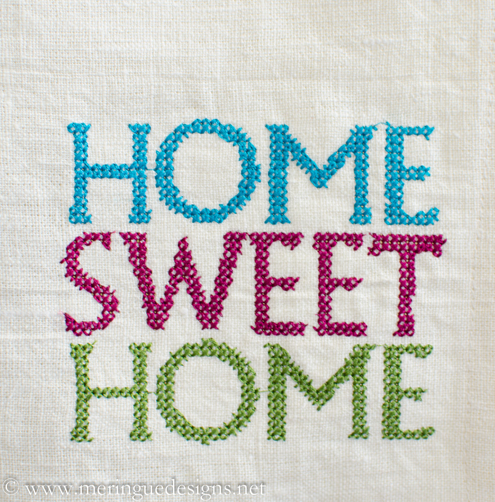 Meringue Designs Cross Stitch Home Sweet Home