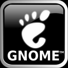 Black Metallic GNOME Logo