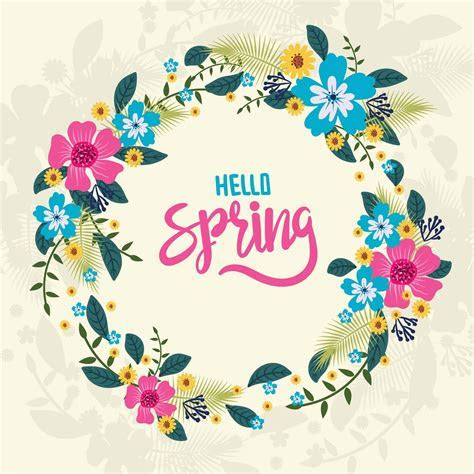 Floral Spring Wreath   Download Free Vector Art, Stock