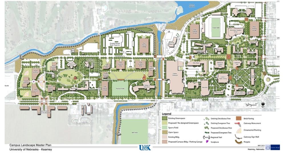 Unk Campus Map University Of Nebraska Kearney Campus Map | World Map Gray