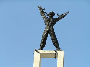 Statue erected to celebrate the inclusion of W...