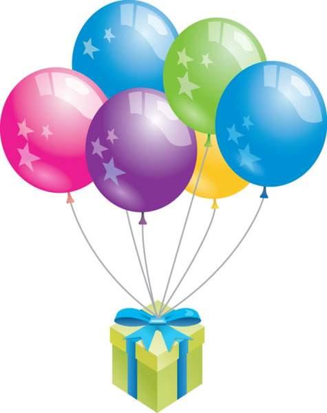 Birthday Cake And Balloons Clip Art