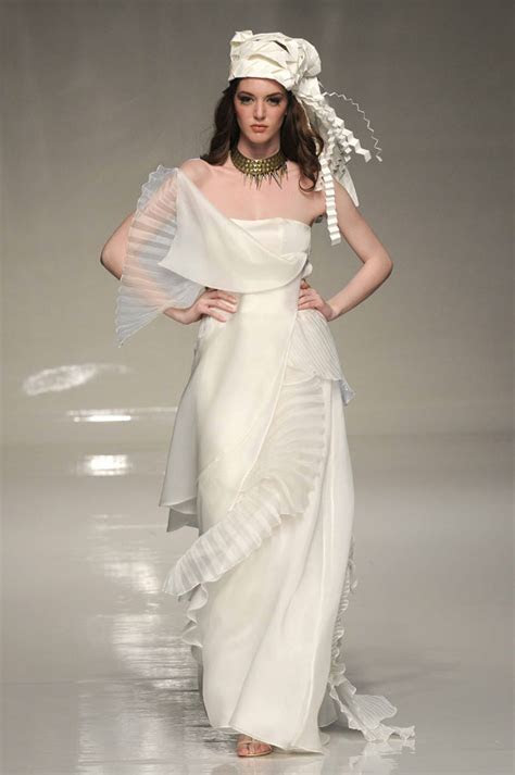 Grecian chic ? floaty light wedding dresses from Victoria