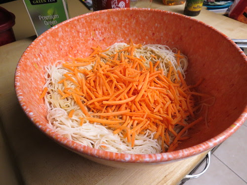 Stir in the carrots and the sauce